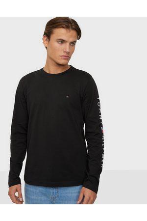 Tommy Hilfiger Miehet T-paidat - Tommy Logo Long Sleeve Tee Neuleet & swetarit Black