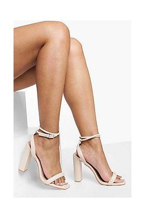Boohoo Padded 2 Part Heeled Sandal