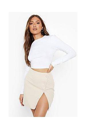 Boohoo Naiset Minihameet - Woven Button Detail Wrap Mini Skirt