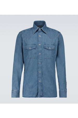 Tom Ford Miehet Pitkähihaiset - Long-sleeved denim shirt