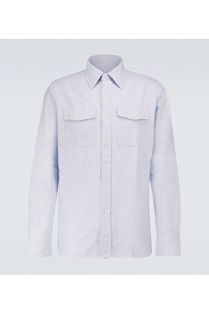 Tom Ford Miehet Bisnes - Washed Oxford Leisure cotton shirt
