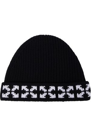 OFF-WHITE Arrows knitted cotton beanie