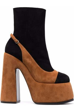 Casadei Layered suede ankle boots