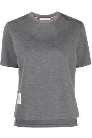 Thom Browne Naiset T-paidat - Logo patch crew neck T-shirt