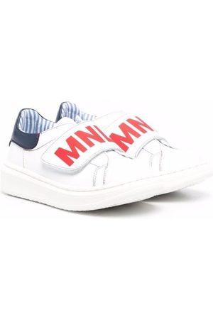 MONNALISA Logo-print leather sneakers