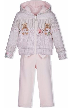 Lapin House Hupparit - Knit-print hoodie tracksuit