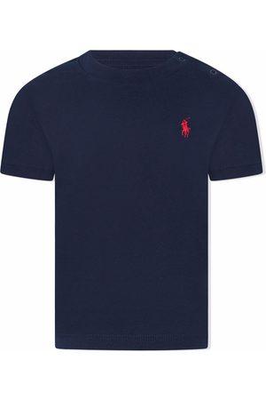 Ralph Lauren T-paidat - Logo-embroidered cotton T-shirt