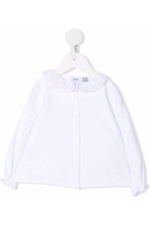 KNOT Pitkähihaiset - Ruffle-collar long-sleeved blouse
