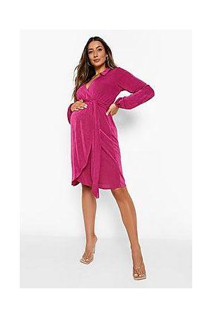 Boohoo Naiset Kesämekot - Maternity Collared Wrap Dress
