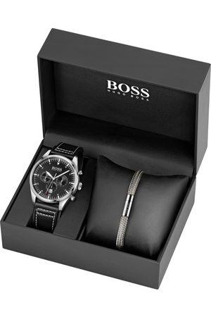 HUGO BOSS Miehet Rannekorut - BOSS Watch Bracelet Gift Set Silver