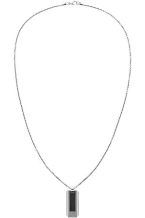 Tommy Hilfiger Miehet Kaulakorut - Pique Dog Tag Necklace Silver