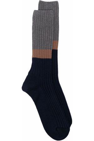 ELEVENTY Miehet Sukat - Colour-block ribbed socks