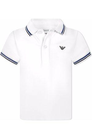 Emporio Armani Pikee - Logo-print cotton polo shirt
