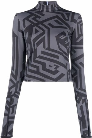 McQ Geometric-print top