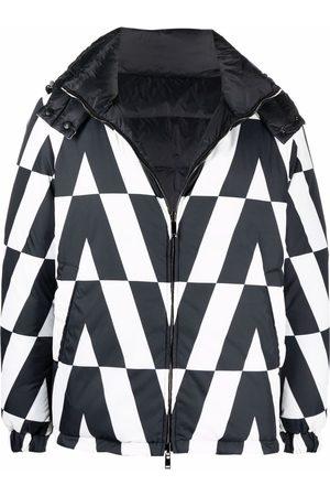 VALENTINO Miehet Untuvatakit - Monogram-print padded jacket