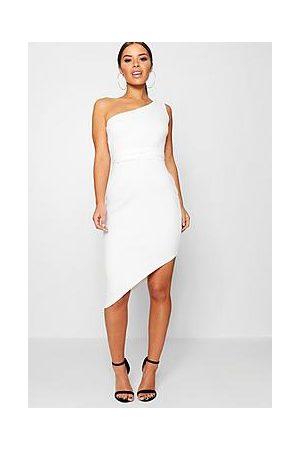 Boohoo Petite Recycled Asymmetric Bodycon Dress