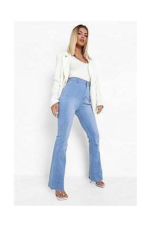 Boohoo Stretch Denim Flare Jeans