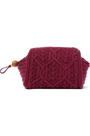 Loro Piana Puffy Pouch knitted clutch