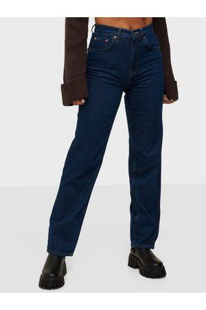 Gina Tricot Naiset Korkeavyötäröiset - 90s High Waist Jeans Ocean