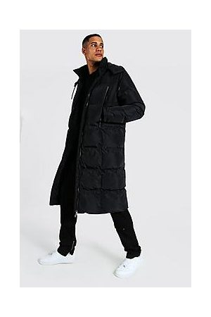 Boohoo Tall Recycled Longline Duvet Puffer With Zips