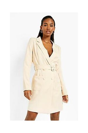 Boohoo Naiset Rennot Mekot - Belted Double Breasted Blazer Dress