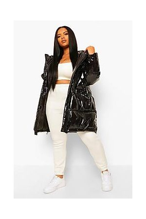 Boohoo Talvitakit - Plus Faux Fur Hood Shiny Parka Puffer Jacket