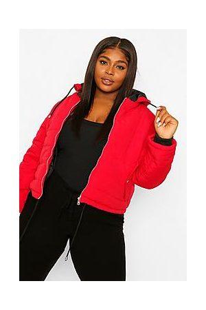 Boohoo Plus Hooded Padded Jacket