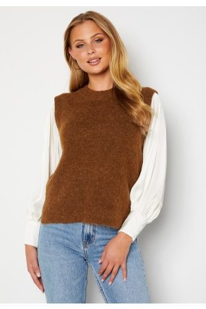 SELECTED Lulu Knit Vest O-Neck Rubber M