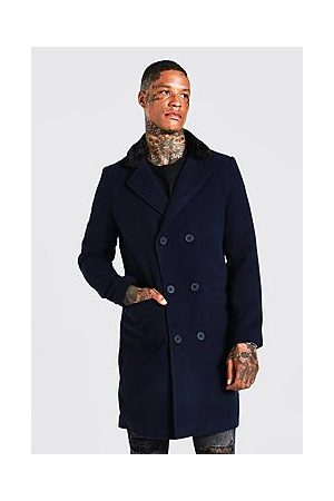 Boohoo Recycled Double Breasted Faux Fur Overcoat