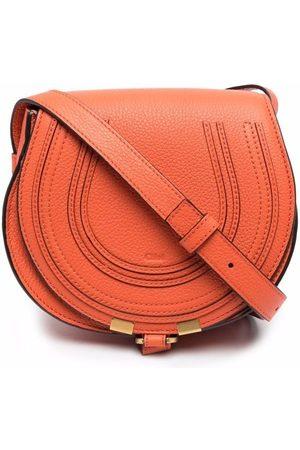 Chloé Naiset Olkalaukut - Marcie logo-embossed crossbody bag