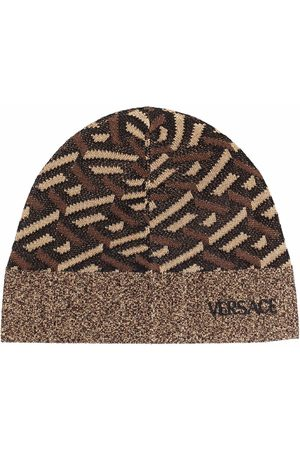 VERSACE Pipot - Colour-block knitted beanie