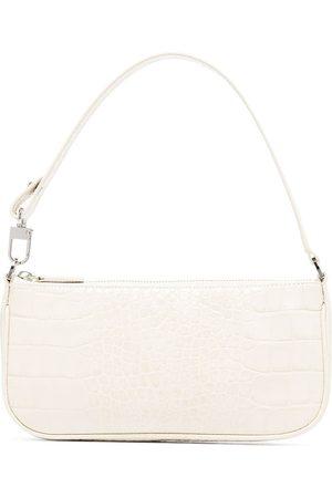 By Far Rachel croc-embossed shoulder bag