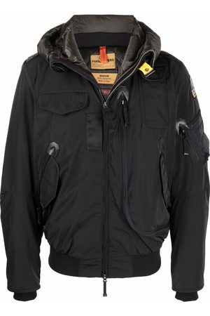 Parajumpers Logo-patch hooded down jacket