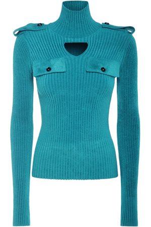 Bottega Veneta Naiset Poolopaidat - Ribbed Velvet Turtleneck Sweater