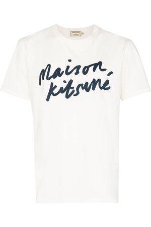 Maison Kitsuné Miehet T-paidat - Logo print cotton T-shirt