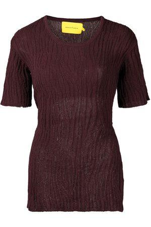 MARQUES'ALMEIDA Tie-fastening open-back T-shirt