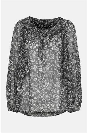 Cellbes Naiset Puserot - Pienikukkainen smokkipoimutettu pusero sifonkia