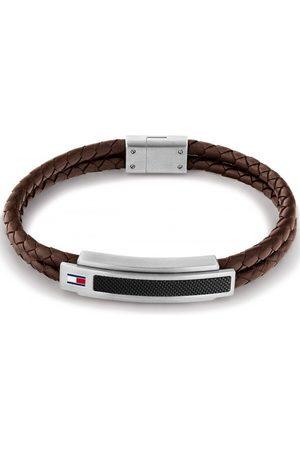 Tommy Hilfiger Miehet Rannekorut - Pique Bracelet Leather Brown