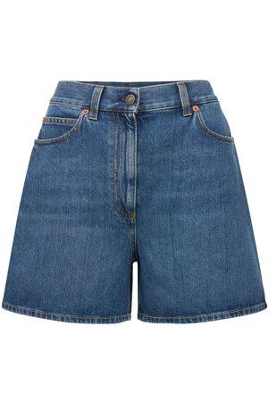 Gucci High Waist Denim Shorts