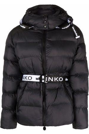 Pinko Logo belt padded jacket