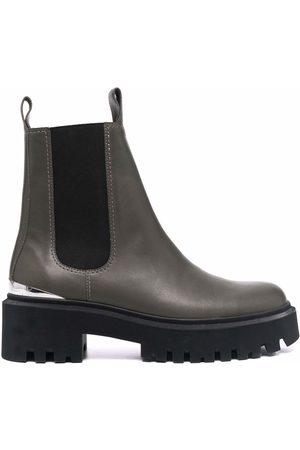 Maje Ridged sole chelsea boots