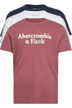 Abercrombie & Fitch Miehet T-paidat - Anf Mens Graphics T-shirts Short-sleeved Vaaleanpunainen