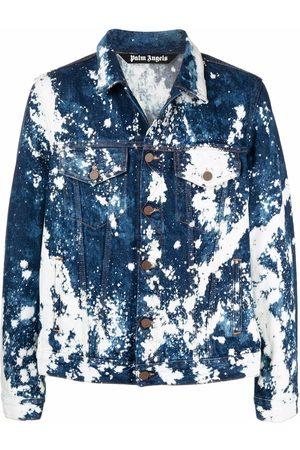 Palm Angels Paint-print denim jacket