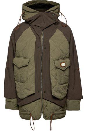 Scotch&Soda Colourblock Mid-Length Jacket With Repreve® Filling Tikkitakki Vihreä