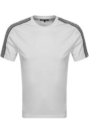 Michael Kors Logo Tape T Shirt White