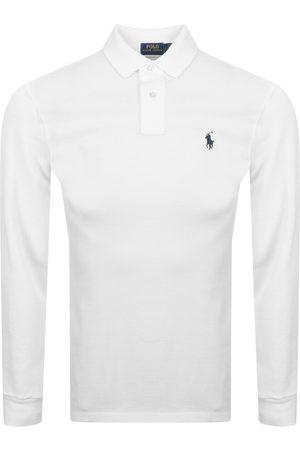 Ralph Lauren Long Sleeved Polo T Shirt White