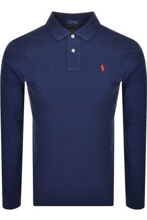 Ralph Lauren Long Sleeved Polo T Shirt Navy