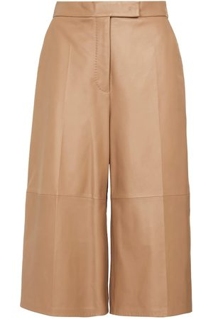 Max Mara Calte leather culottes