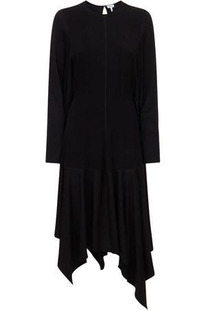 Loewe Naiset Epäsymmetriset Mekot - Stretch Viscose Asymmetric Midi Dress