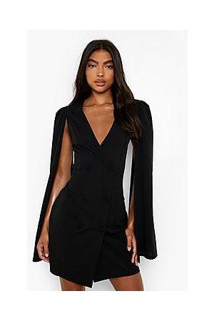 Boohoo Tall Cape Sleeve Blazer Dress